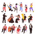 musicians isometric set vector image vector image