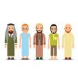 muslim man set muslim or arab man stand in the vector image vector image