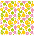 naive apple fruit seamless pattern for fabric vector image vector image