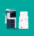 office multifunction machine vector image vector image