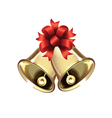 pair of Christmas bells vector image vector image