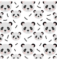 panda bear background vector image