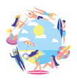 people summertime vacation surf float relax vector image