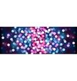 Purple festive lights vector image