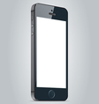 Realistic black apple iphone 5s and iphone 6 plus vector image