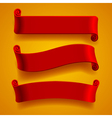 Red banners vector image vector image