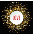 Romantic golden heart background vector image