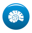 round shell icon blue vector image