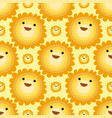 seamless pattern sun yellow planets weather vector image