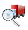Search truck logistics vector image