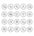 set round line icons of recruiting vector image