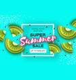 slice of kiwi top view kiwi super summer sale vector image vector image