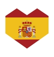 spain flag isolated icon vector image vector image