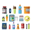 Sports food nutrition icons vector image vector image