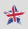 star shaped grunge flag uk vector image