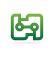 symbol connecting icon element vector image vector image