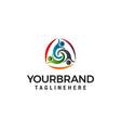 three people healthy logo design concept template vector image