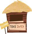 Tiki Shack Closed vector image vector image