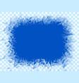 transparent blue frost window vector image