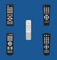 tv remote control icon set old vector image