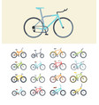 types modern bikes flat vector image vector image