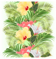 vertical border seamless background tropical vector image vector image