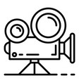 video cinema camera icon outline style vector image