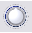 Volume Control Dial White Button vector image