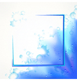 Watercolor blue frame vector image vector image