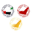 made in United Arab Emirates stamp vector image
