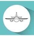 airplane flight design vector image