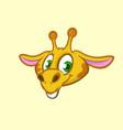 cartoon funny giraffe character vector image