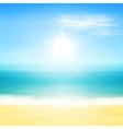 Beach and tropical sea vector image