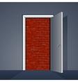 Door to Brick Wall vector image