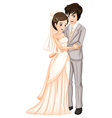 A newly-wed couple vector image vector image