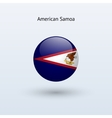 American Samoa round flag vector image vector image