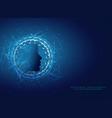 artificial intelligence concept design vector image vector image
