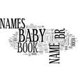 baby names book review roundup text word cloud vector image vector image