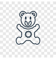 bear hat concept linear icon isolated on vector image