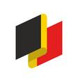 belgium flag ribbon isolated belg tape banner vector image vector image