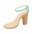 Biege high heel shoe icon cartoon style vector image vector image