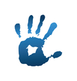 Blue handful vector image