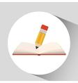 book open pencil concept school graphic vector image vector image