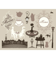 cafes and restaurants vector image vector image