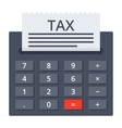 Calculator with Tax Form vector image