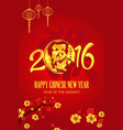 chinese new year of monkey design vector image vector image