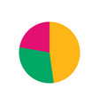 colorful business pie chart for your documents vector image