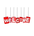 colorful hanging cardboard Tags - welcome vector image vector image