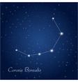 Corona Borealis constellation vector image vector image