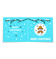 double sided holiday card with gingerbread man vector image vector image